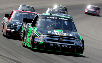 Today's Camping World Truck Series began with a 20-lap exhibition race at Mesa Marin Raceway in 1994.