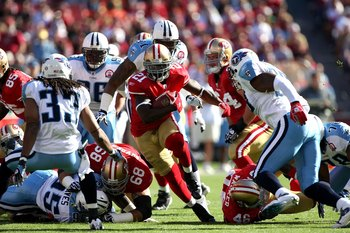 The Titans defeated the 49ers 34-27 in 2009.