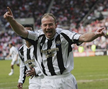 The classic Shearer celebration, which fans were treated to 206 times