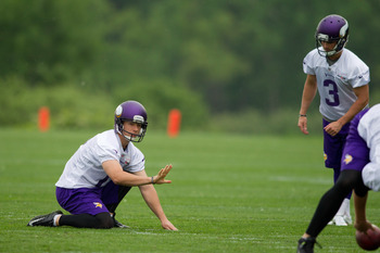 The transition from Chris Kluwe to Jeff Locke hasn't been hiccup-free for Blair Walsh (No. 3).