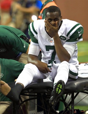 Geno Smith's preseason has been set back by an ankle injury.