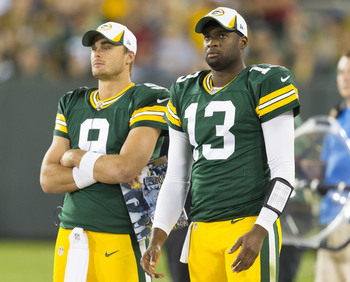 Vince Young and Graham Harrell look toward an unknown future in Green Bay