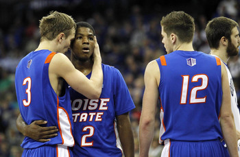 Anthony Drmic (3) and Derrick Marks (2) led Boise State to its first NCAA tournament since 2008 last season.