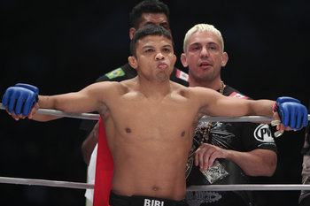 ONE FC interim bantamweight champion Bibiano Fernandes. (Photo credit: Daniel Herbertson/MMA Fighting)