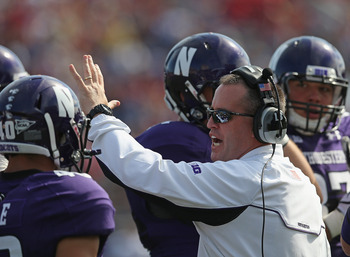 Northwestern head coach Pat Fitzgerald