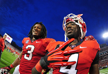 Georgia running backs Todd Gurley and Keith Marshall