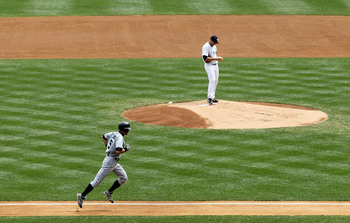 Opponents circling the bases was a common sight in the Bronx when Vazquez took the mound