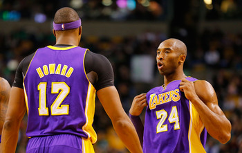 Dwight Howard (left) and Kobe Bryant (right)