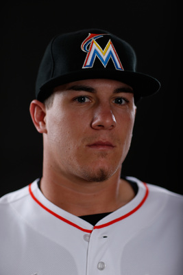 Miami Marlins prospect J.T. Realmuto. He's currently a catcher at Double-A Jacksonville.