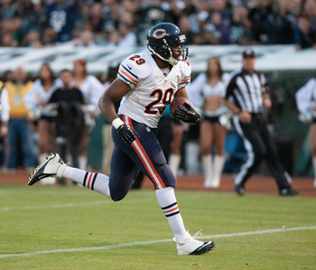 Bush accounted for two of the Bears' three rushing touchdowns on Week 3.