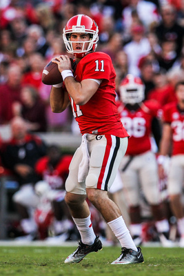 Georgia senior quarterback Aaron Murray.