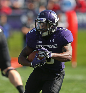 Northwestern senior running back Venric Mark.