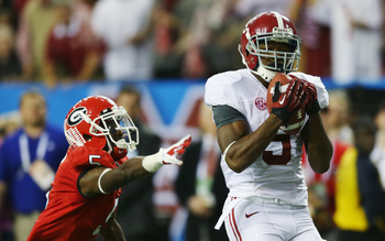 Alabama's Amari Cooper scores the winning touchdown in last season's SEC Championship game.