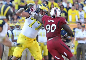 Lewan handled South Carolina and Jadeveon Clowney very well