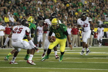 Marcus Mariota didn't even play the entire first half against Arkansas State.