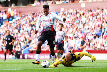 Sturridge rounds Brad Guzan with maximum composure before slamming home into the roof of the net.