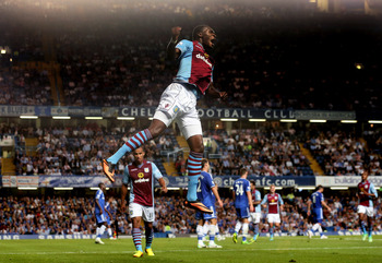 Reach for the stars: Benteke is going from strength to strength.