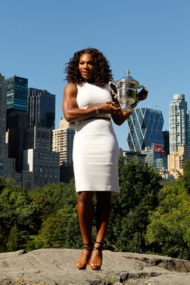 Serena Williams stands tall with her U.S. Open trophy in 2012 and is favored to claim the 2013 championship, too.