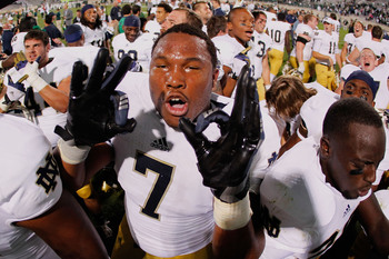Expect Stephon Tuitt and his Notre Dame teammates to walk out of Saturday's season opener with zero losses.