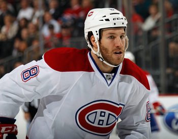 Brandon Prust is the only sure thing on the Canadiens' fourth line.