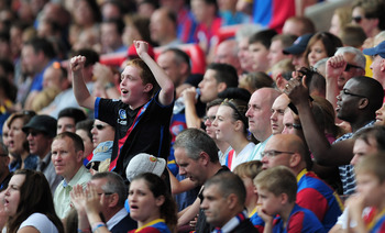 Fans at Selhurst Park can celebrate the club's return to the EPL.