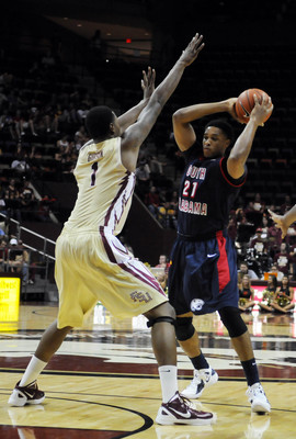 South Alabama's Augustine Rubit scored 12 points in an upset win over Florida State last season.