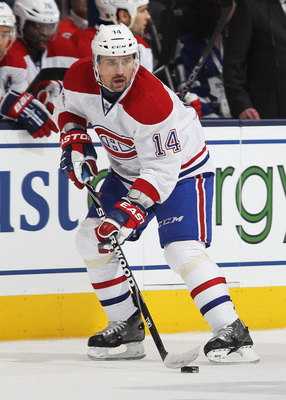Tomas Plekanec is great in the faceoff circle.