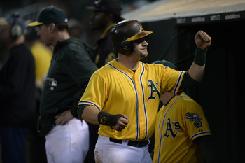 Vogt continues to make the most of his opportunity with Oakland.