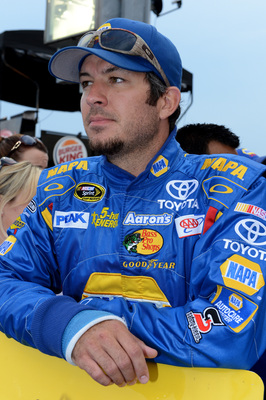 Martin Truex Jr. finished third Sunday night with a broken right wrist.