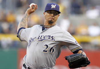 Kyle Lohse has been the one reliable starter at Ron Roenicke's disposal this year.