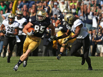 Tight end Troy Niklas caught one pass against Temple, but it went for 66 yards and a touchdown.