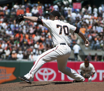 George Kontos pitched very well in 2012, but often struggled this year.