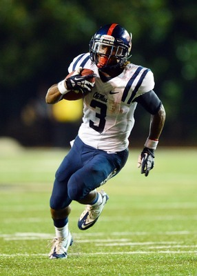 Ole Miss running back Jeff Scott against Vanderbilt on Thursday night.