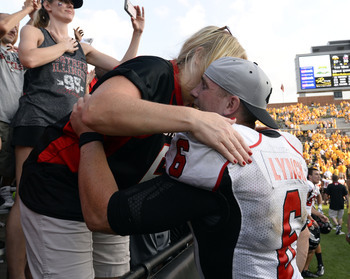Northern Illinois quarterback Jordan Lynch after defeating Iowa 30-27.