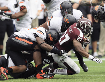 Oklahoma State vs Mississippi State on Aug. 31.