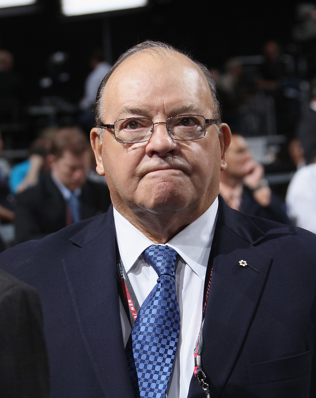 NEWARK, NJ - JUNE 30:  Senior Advisor, Hockey Operations Scotty Bowman of the Chicago Blackhawks looks on during the 2013 NHL Draft at the Prudential Center on June 30, 2013 in Newark, New Jersey.  (Photo by Bruce Bennett/Getty Images)