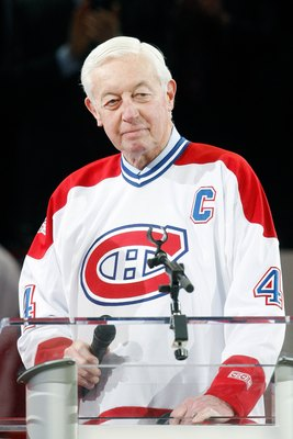 Former Montreal Canadiens captain Jean Beliveau.