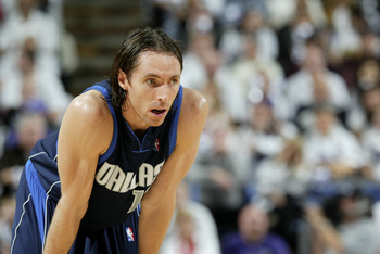 As a member of the Mavericks, Steve Nash had his first great season of his NBA career.