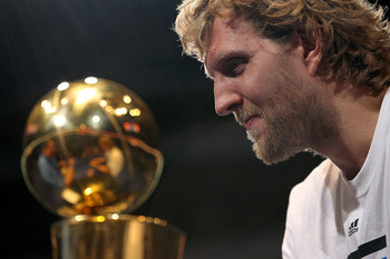 Smile on, Dirk, the trophy is yours.