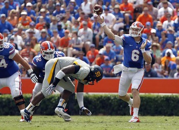 Florida quarterback Jeff Driskel against Toledo on Aug, 31.