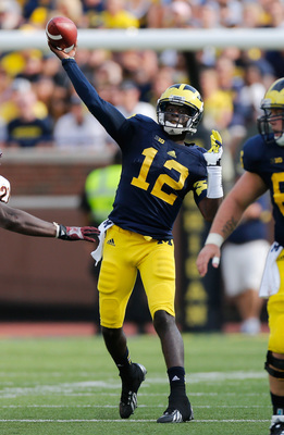 Michigan junior quarterback Devin Gardner against Central Michigan on Aug. 31.