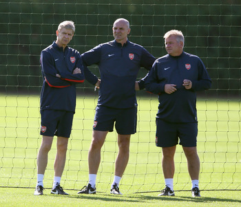Arsenal's backroom staff have a lot of experience