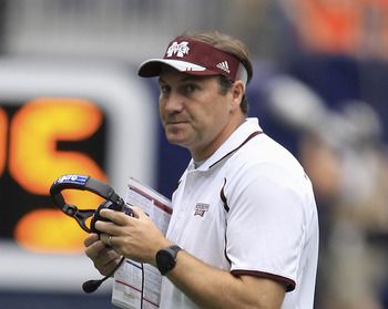 Mississippi State head coach has to be happier today than he was last Sunday.