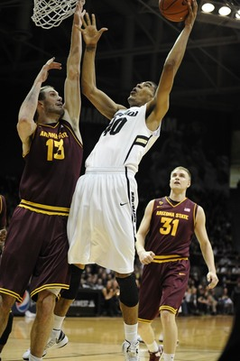Colorado center Josh Scott can score with either hand around the basket.