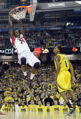 Montrezl Harrell scored only two points in the national title game, but it came on a memorable alley oop delivered by Peyton Siva.