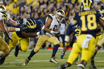Notre Dame's Amir Carlisle averaged 5.3 yards per carry against Michigan.