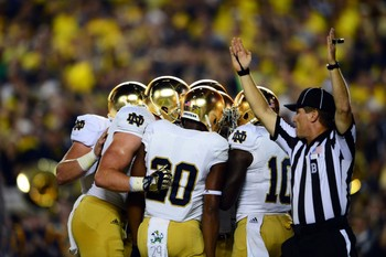 Expect to see this at least a few times out of Notre Dame Saturday night against Purdue.