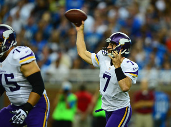 Christian Ponder failed to silence any critics after Week 1.