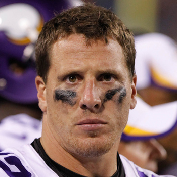 Chad Greenway recorded eight tackles vs. Detroit.