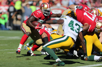 The Green Bay defense smothered Frank Gore.